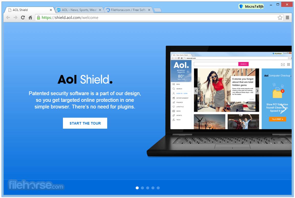 AOL Shield Browser Screenshot
