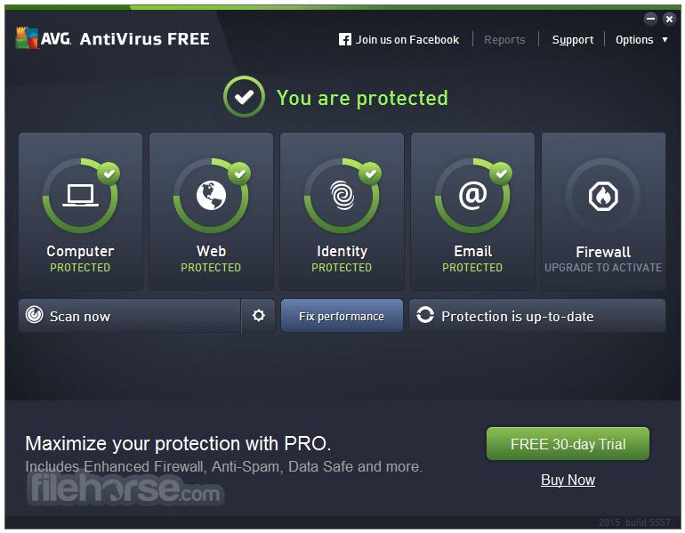 AVG AntiVirus Free (64-bit) Screenshot
