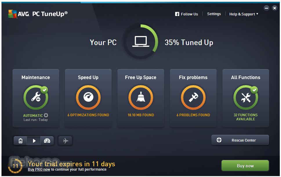 AVG PC TuneUp (32-bit) Screenshot