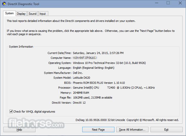 DirectX 12 Screenshot