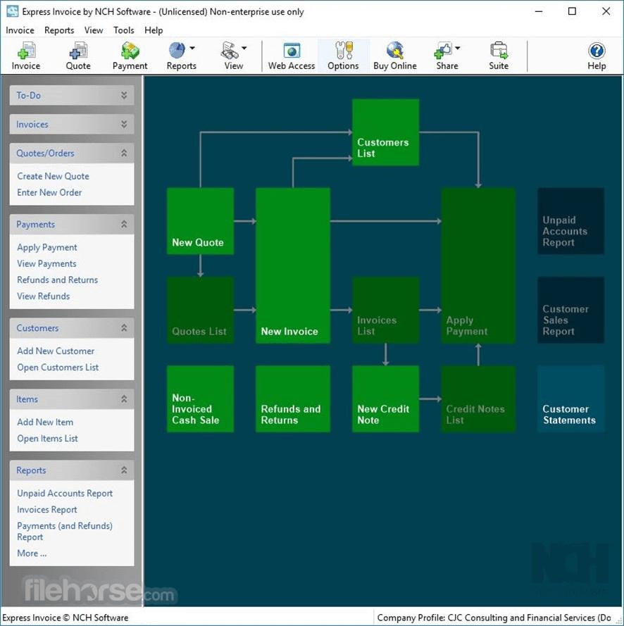 Express Invoice Invoicing Software Screenshot