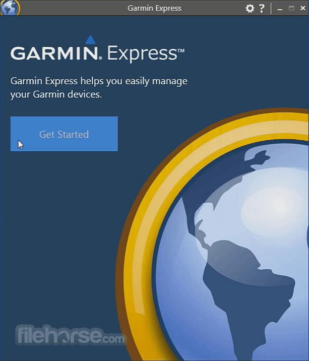 Garmin Express Screenshot