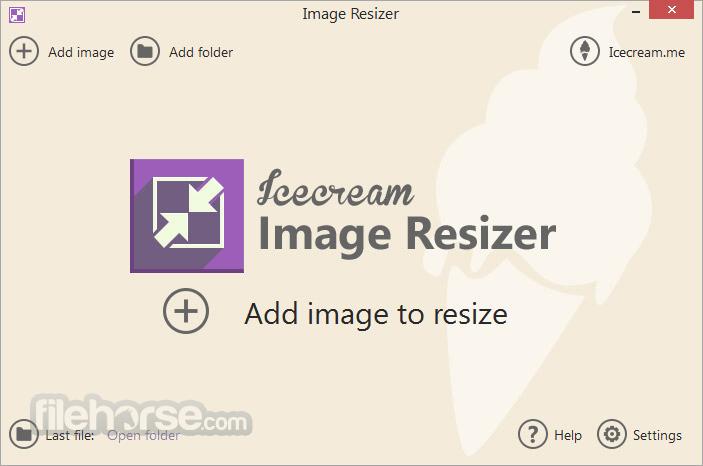 IceCream Image Resizer Screenshot