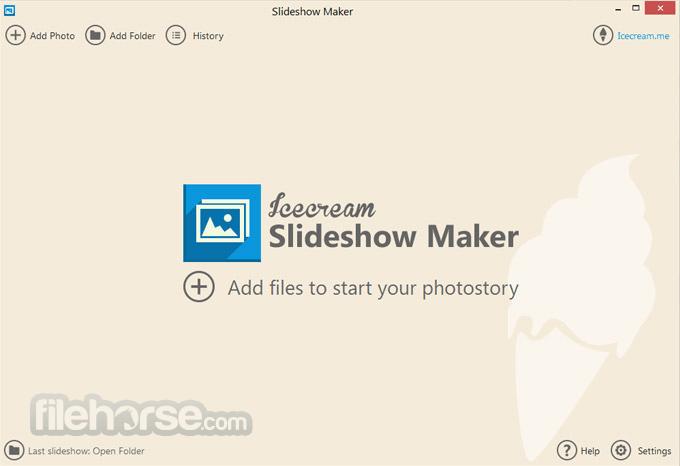 IceCream Slideshow Maker Screenshot