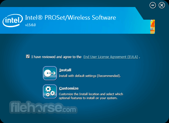 Intel PROSet/Wireless Software (32-bit) Screenshot