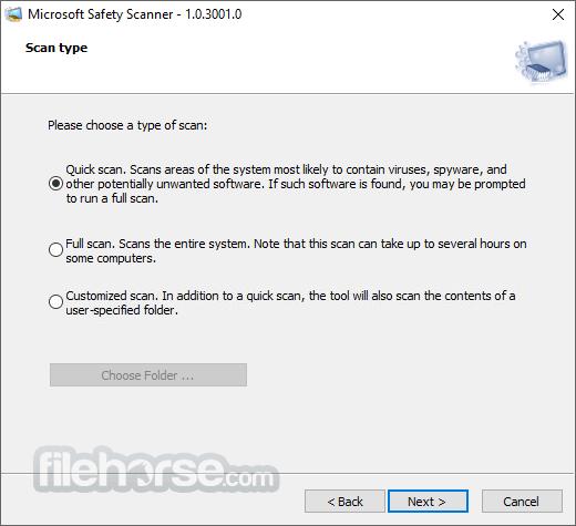 Microsoft Safety Scanner (32-bit) Screenshot