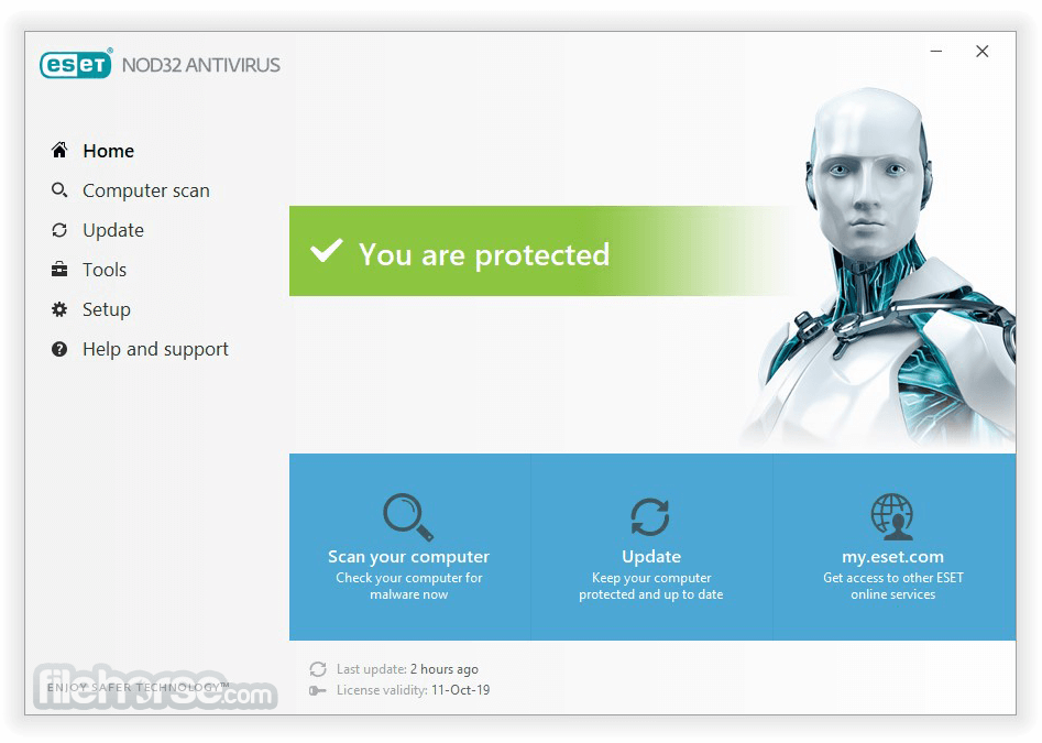 ESET NOD32 Antivirus (64-bit) Screenshot