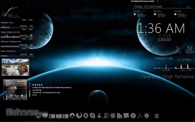 Rainmeter Screenshot