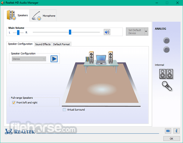 Realtek High Definition Audio (32-bit) Screenshot