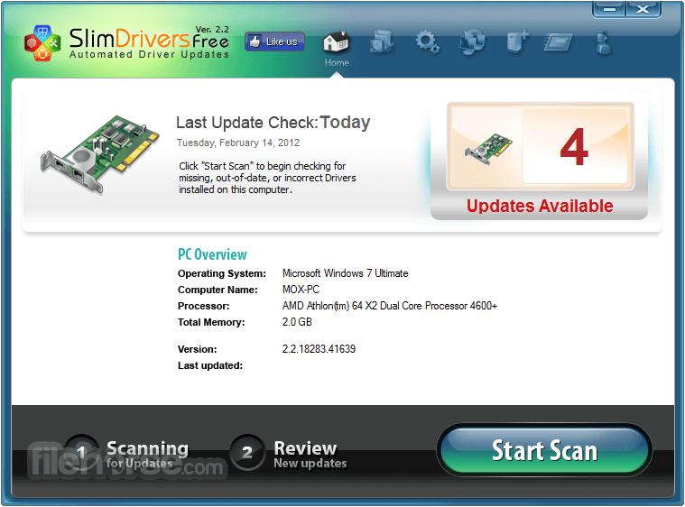 SlimDrivers Screenshot