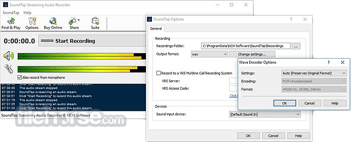 SoundTap Streaming Audio Recorder Screenshot