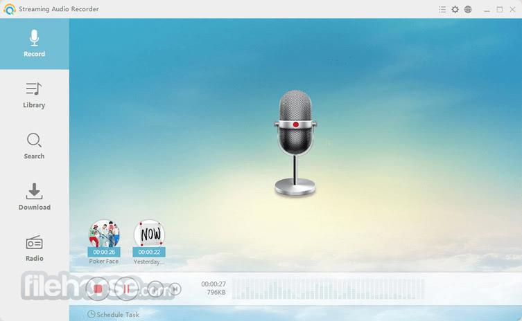 Streaming Audio Recorder Screenshot