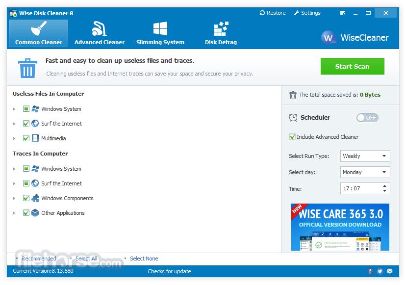 Wise Disk Cleaner Screenshot