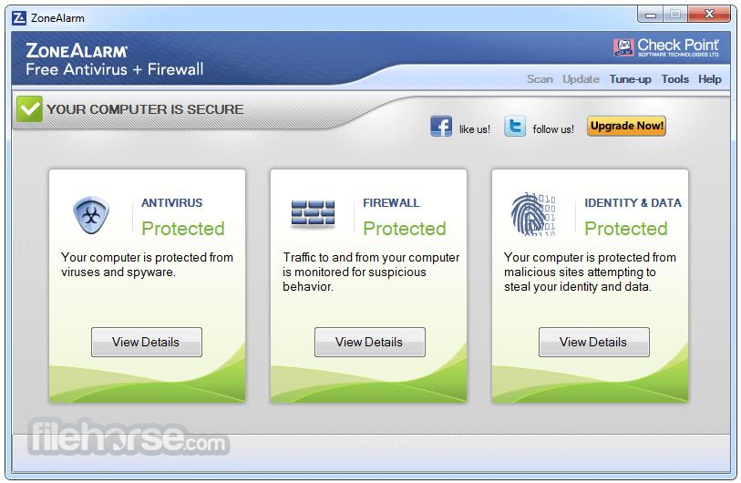 ZoneAlarm Free Antivirus Screenshot