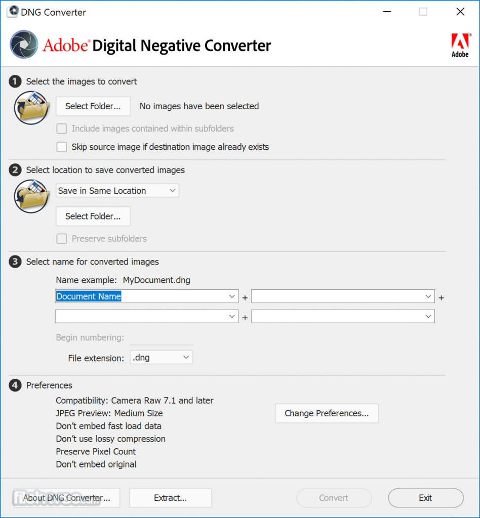 Adobe DNG Converter   Latest Version Free Download 10 ...