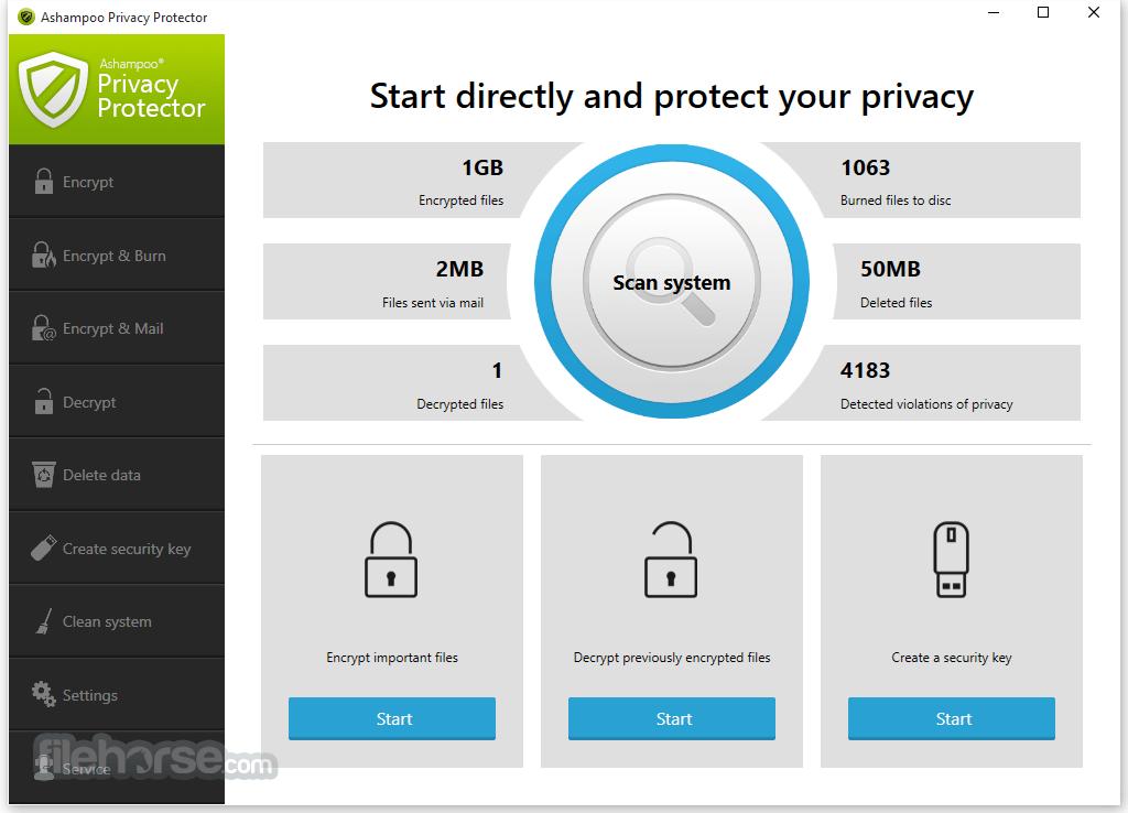 Ashampoo Privacy Protector Screenshot