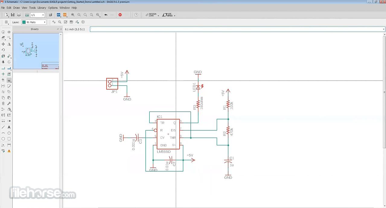 Autodesk EAGLE Screenshot