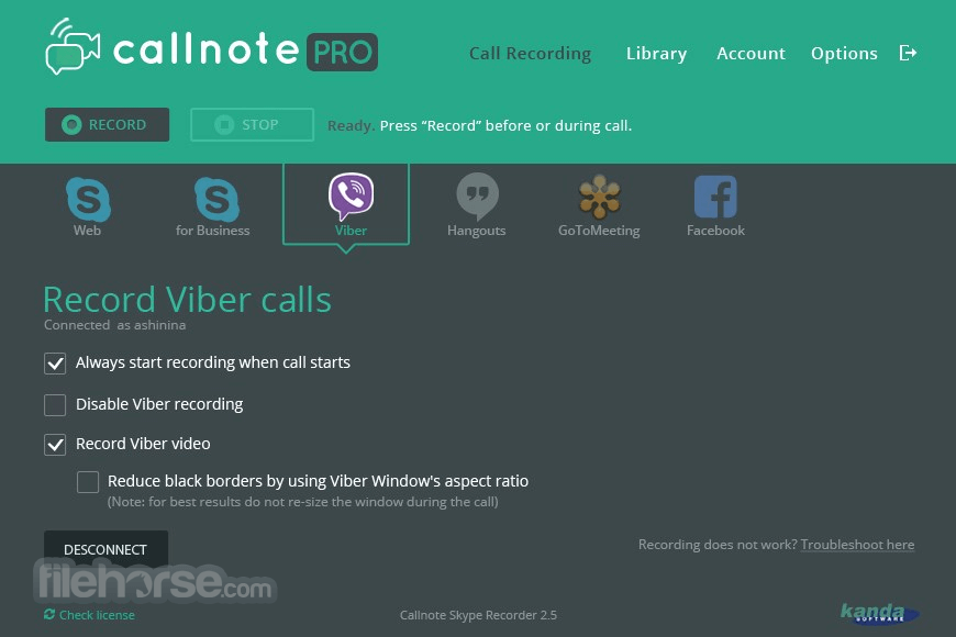 Callnote Screenshot