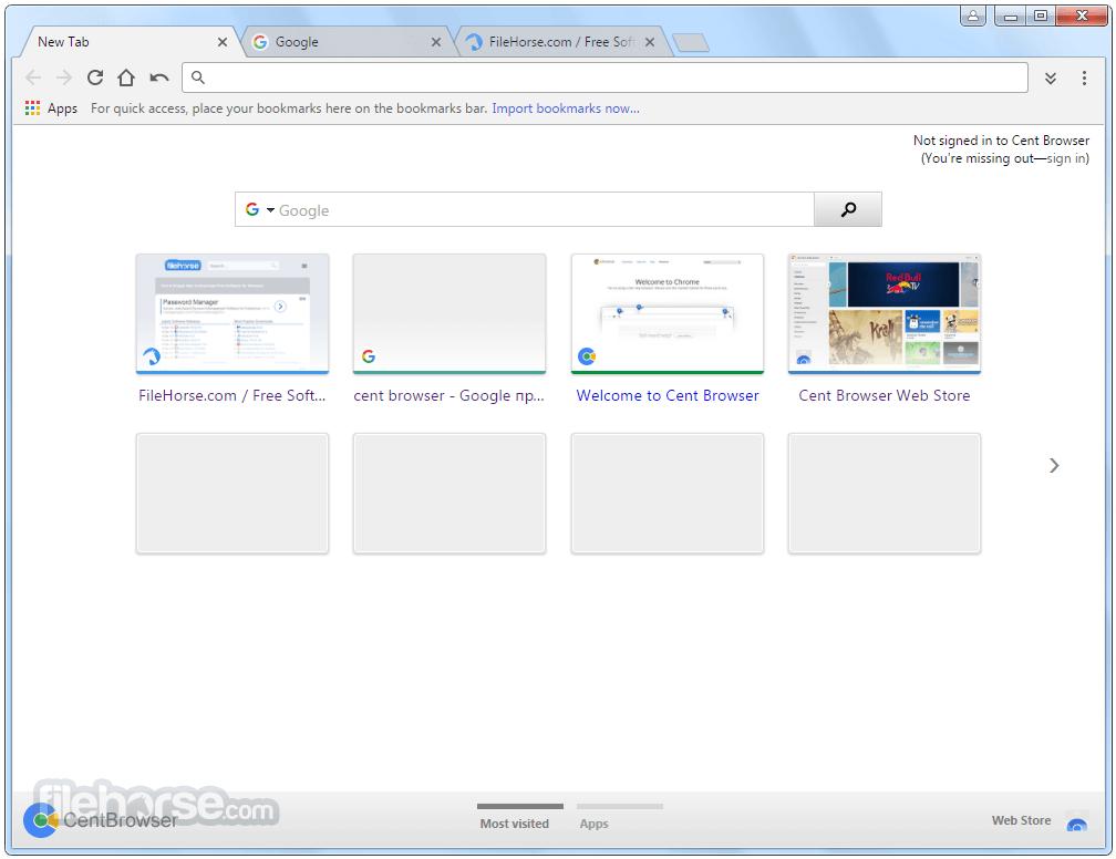 Cent Browser (64-bit) Screenshot