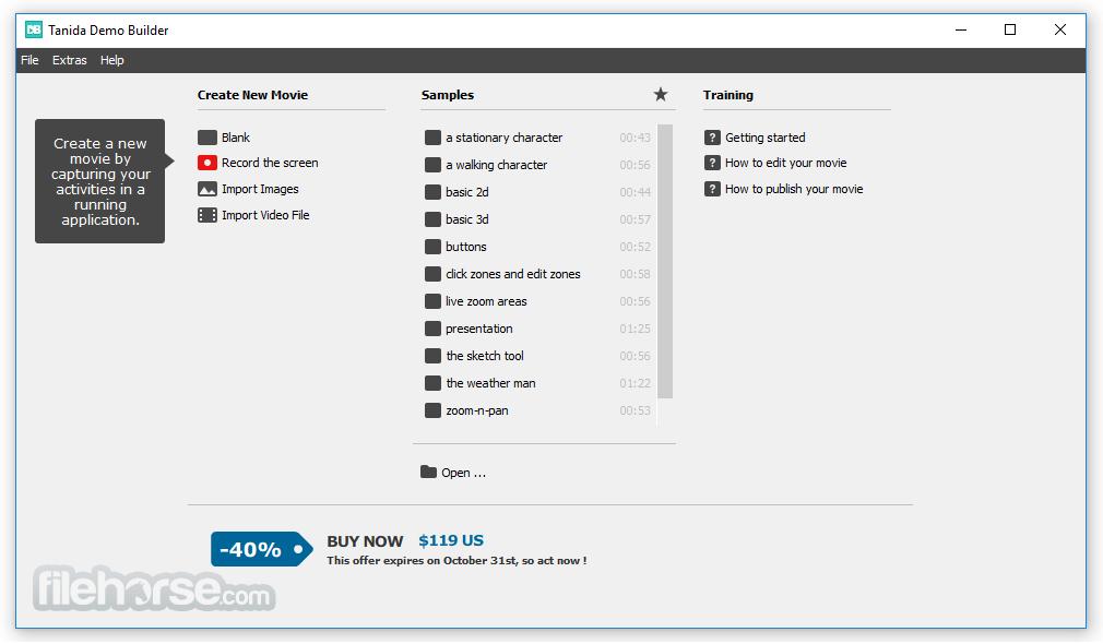 Tanida Demo Builder Screenshot