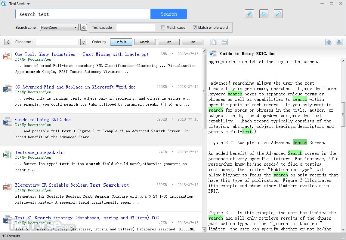TextSeek Screenshot