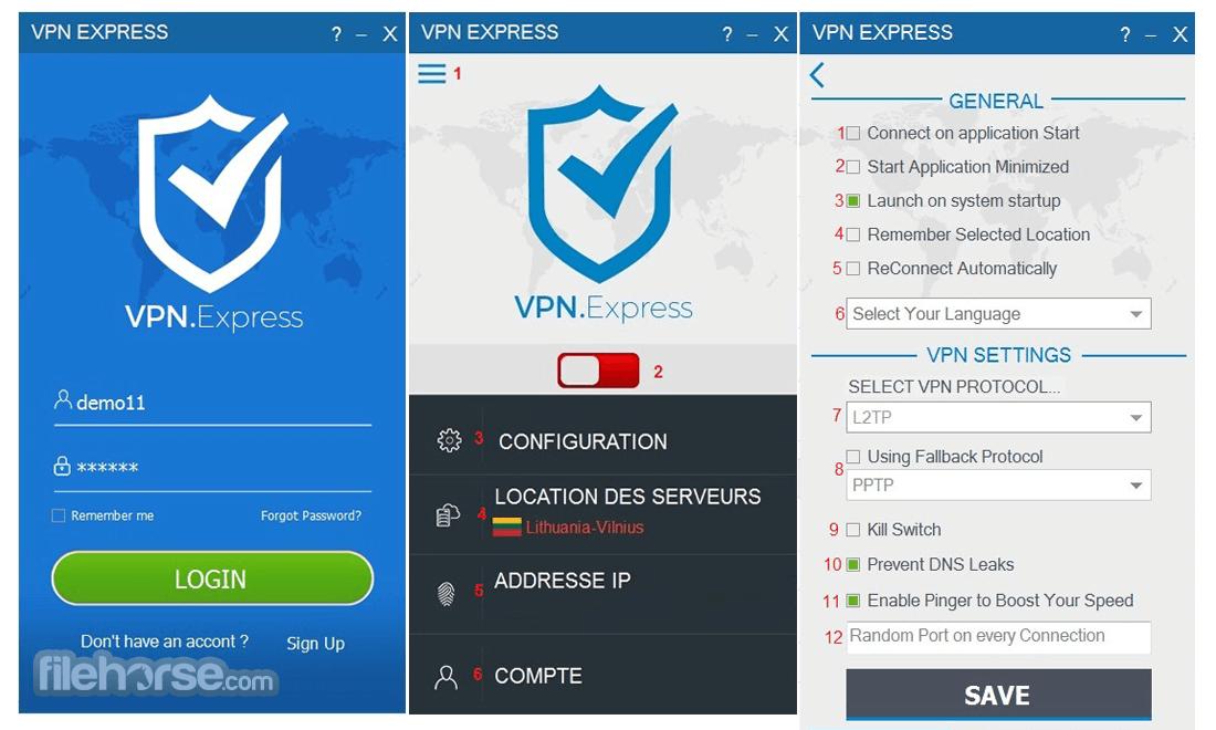 VPN.Express Screenshot