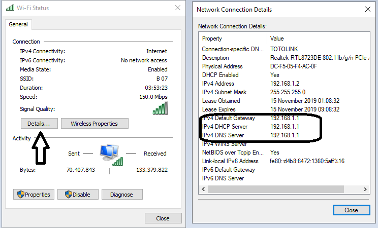 Network Device Details