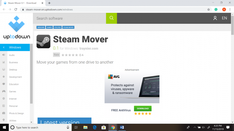 Steam Mover Software